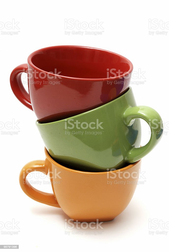 empty cups royalty-free stock photo