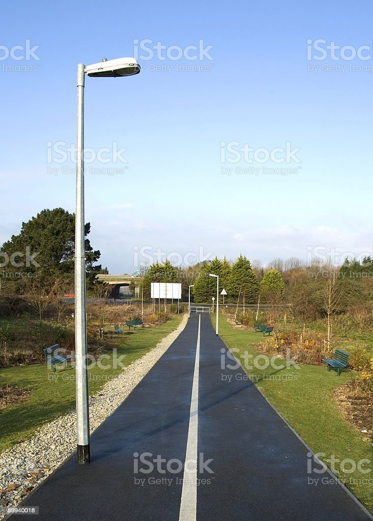 empty cycle path royalty-free stock photo