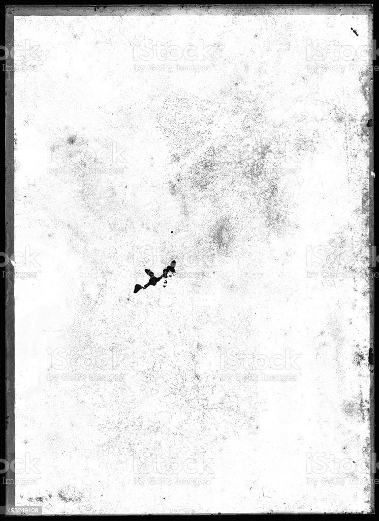 XXXL Empty damaged glass plate negative. stock photo