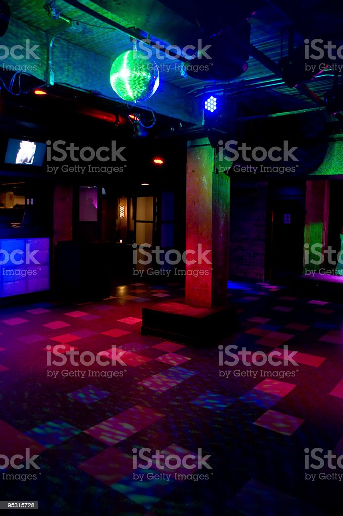 Empty dance floor. royalty-free stock photo