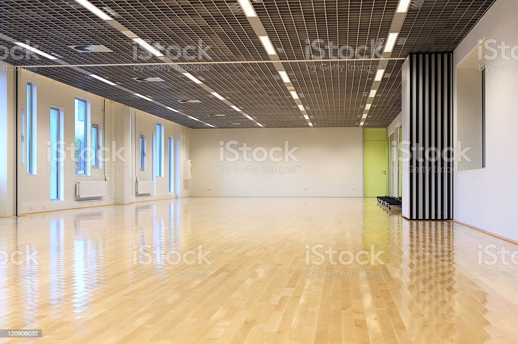 Empty dance studio stock photo