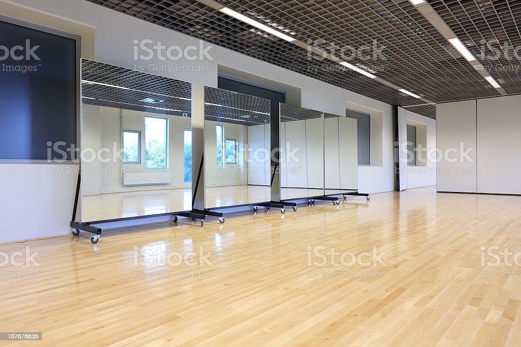Empty dance studio stock photo