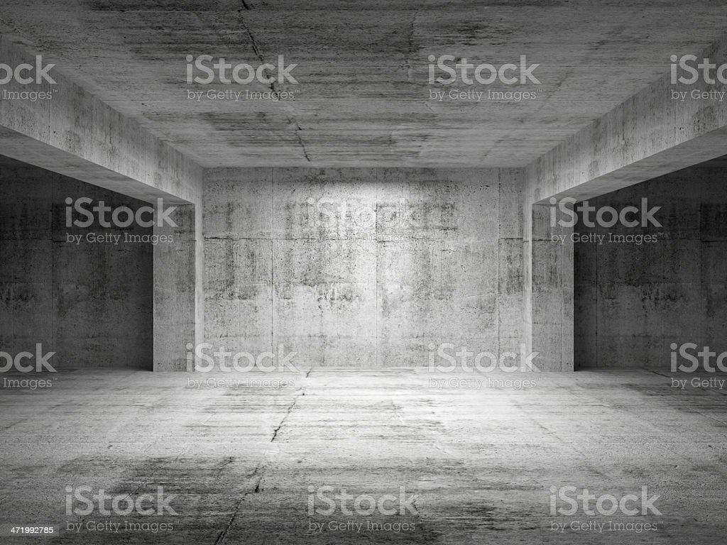 Empty dark abstract concrete room perspective interior royalty-free stock photo