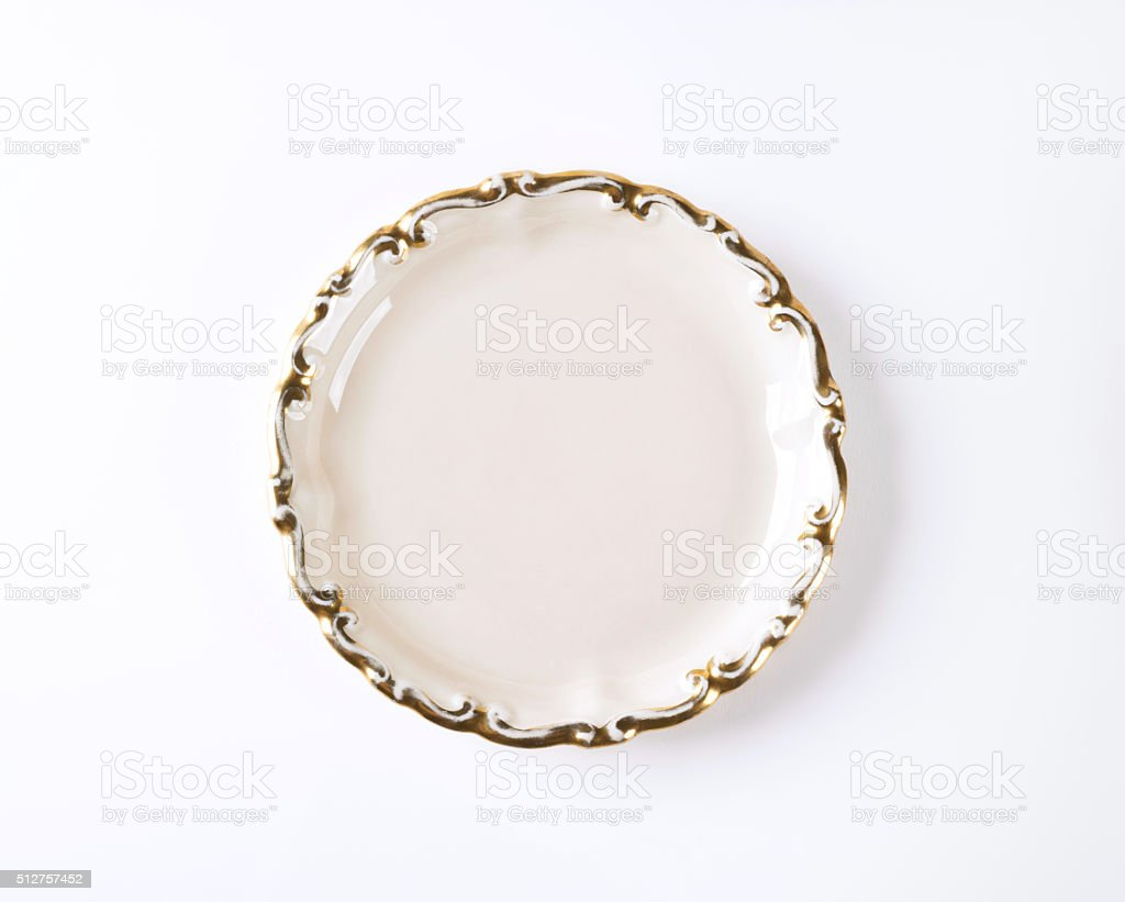 empty decorative plate stock photo