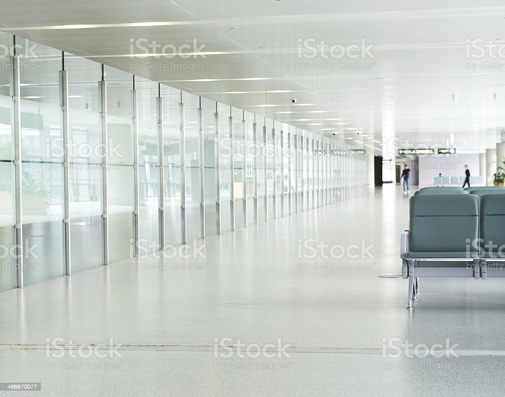 empty departure lounge stock photo