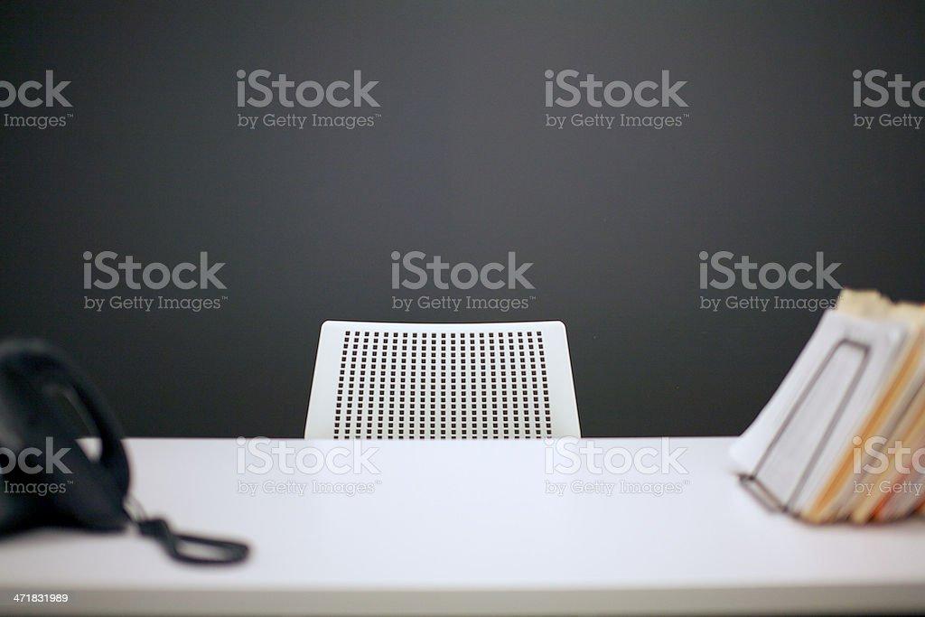 Empty desk stock photo