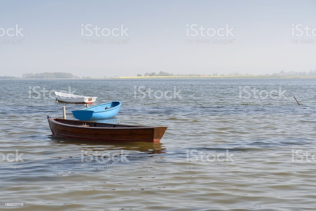 Empty Dinghies royalty-free stock photo