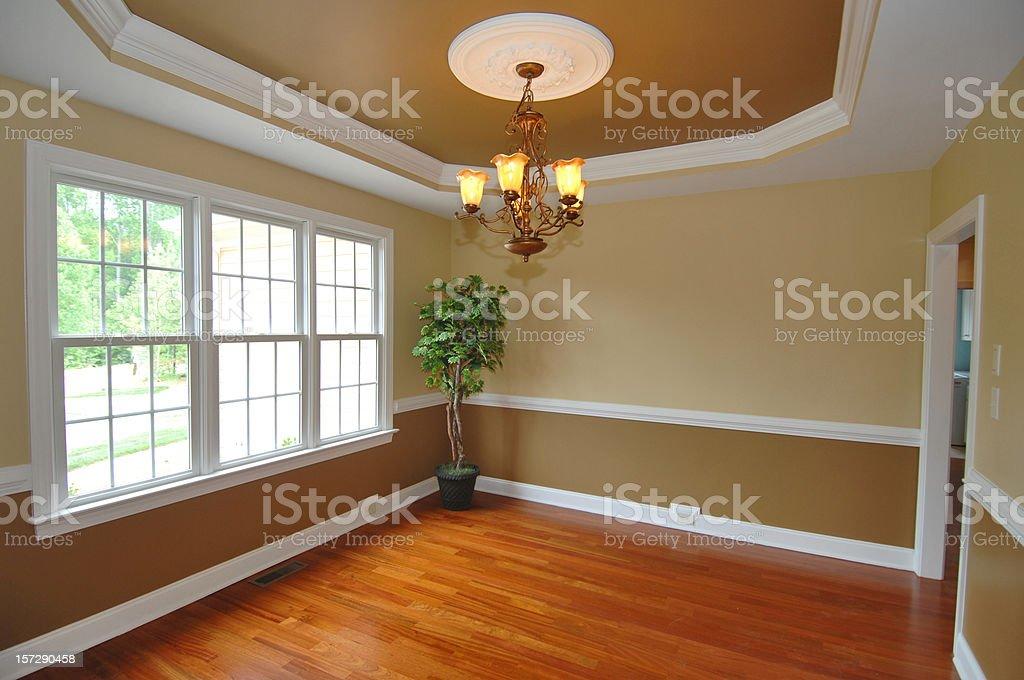 Empty dining room royalty-free stock photo