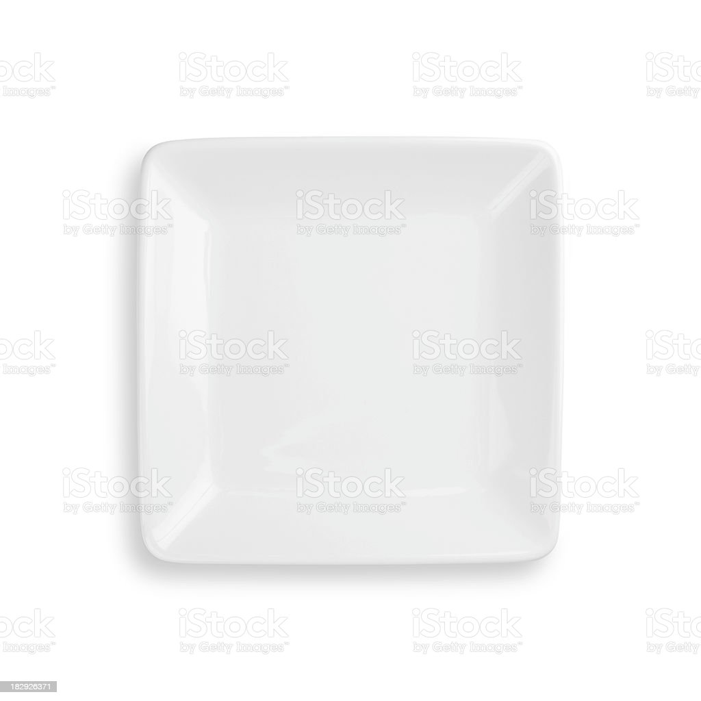Empty dinner plate isolated on white with clipping path royalty-free stock photo