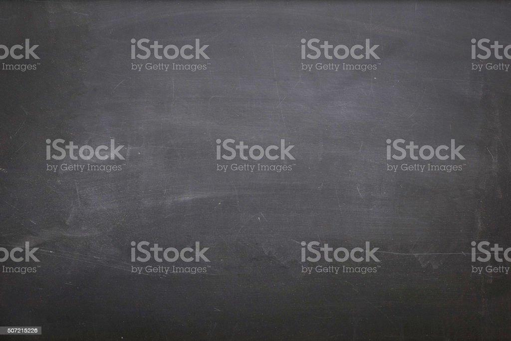 Empty Dirty Blackboard stock photo