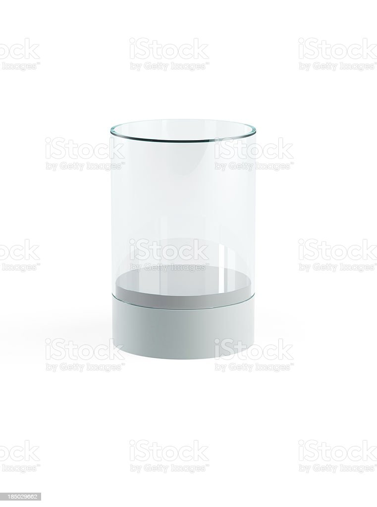 empty display case stock photo