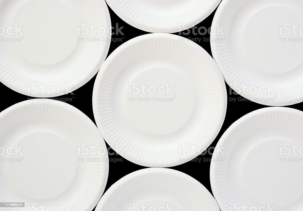 Empty disposable paper plate stock photo