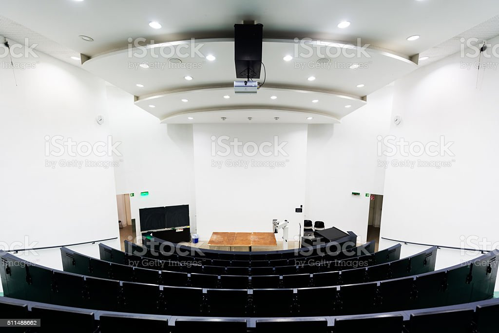 Empty dissecting room in university stock photo
