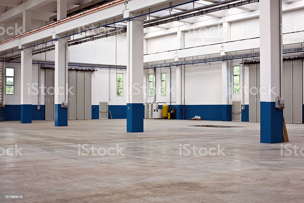 Empty Distribution Warehouse. Color Image stock photo