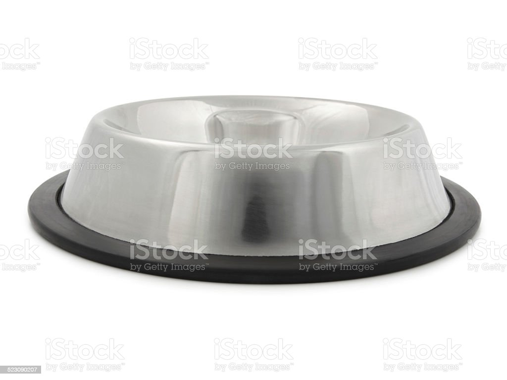 Empty dog bowl stock photo