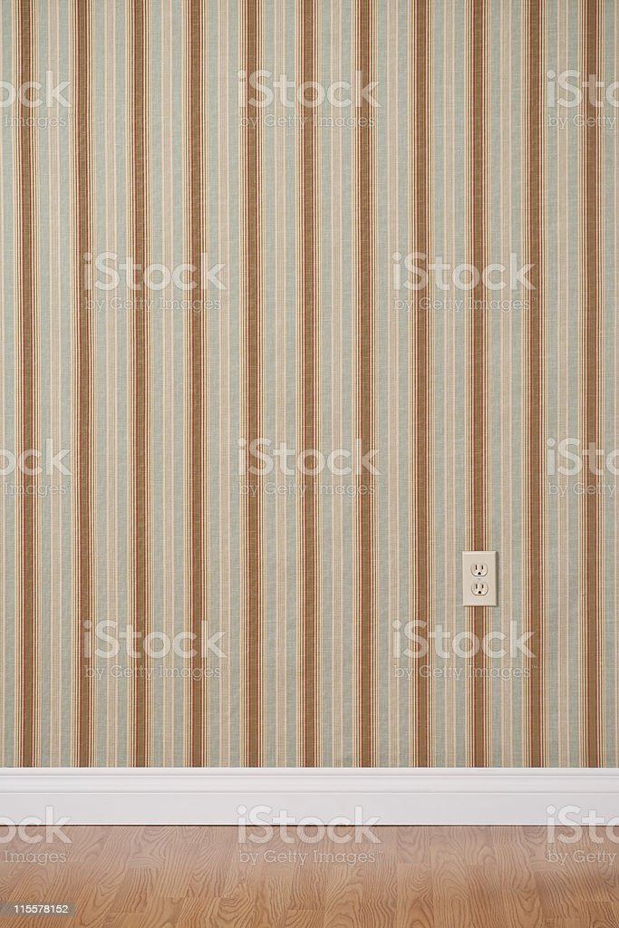 Empty Domestic Room With Power Outlet royalty-free stock photo