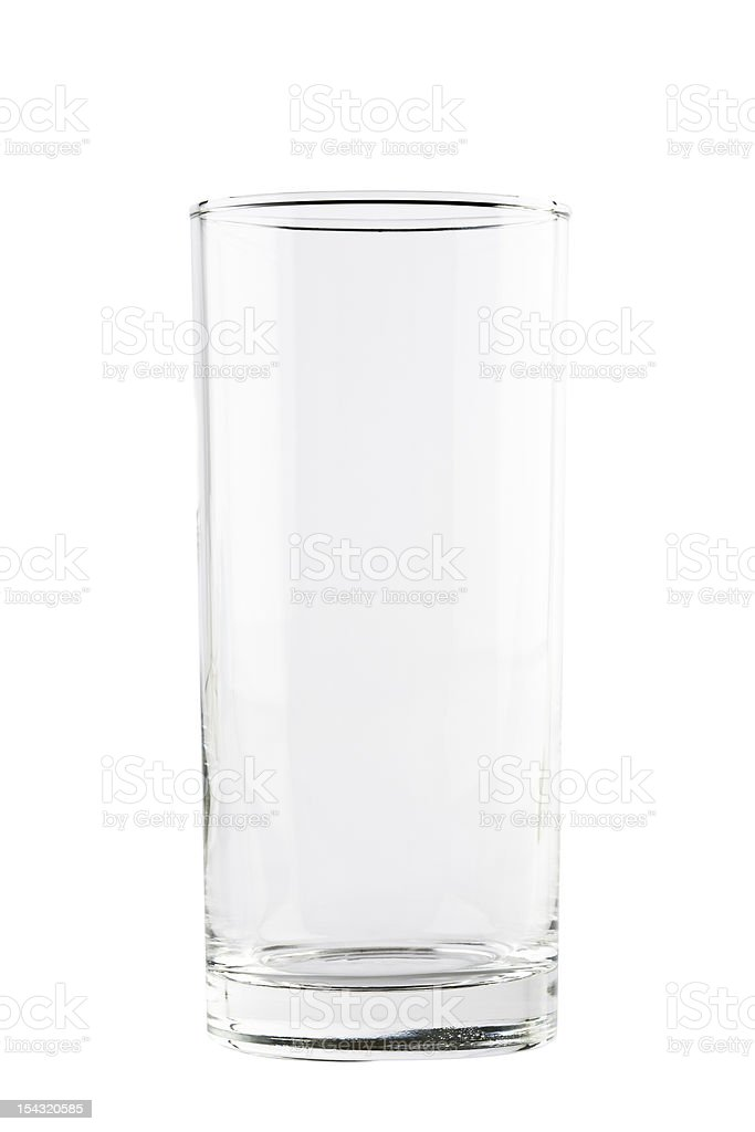 empty drink highball glass stock photo