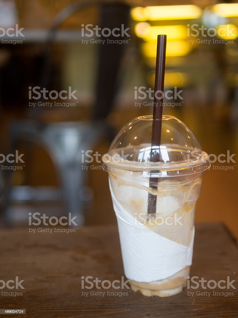 Empty drinking cup stock photo