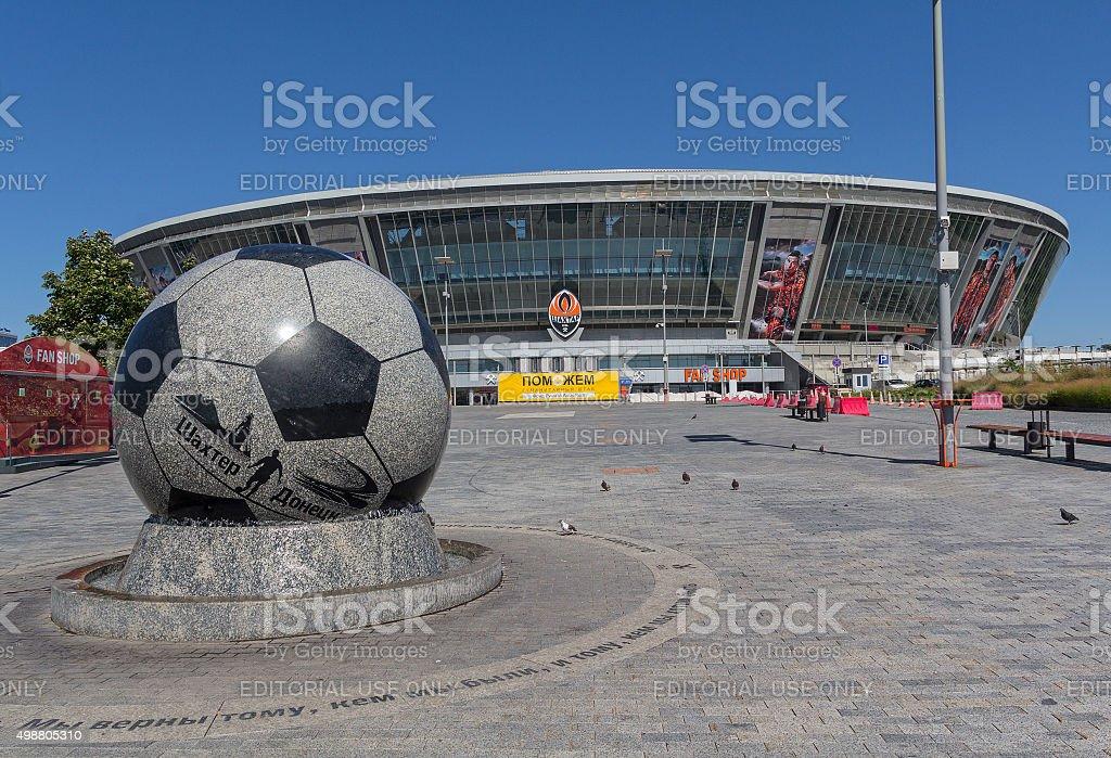 Empty during the war the stadium 'Donbass Arena'. Donetsk, Ukraine stock photo