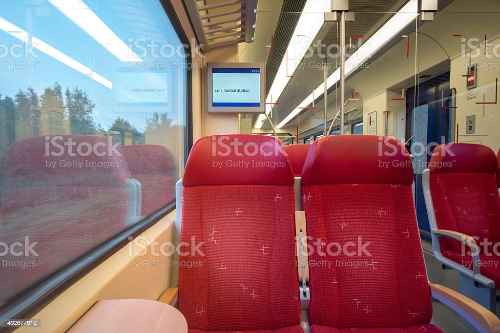 Empty dutch sprinterclass train stock photo