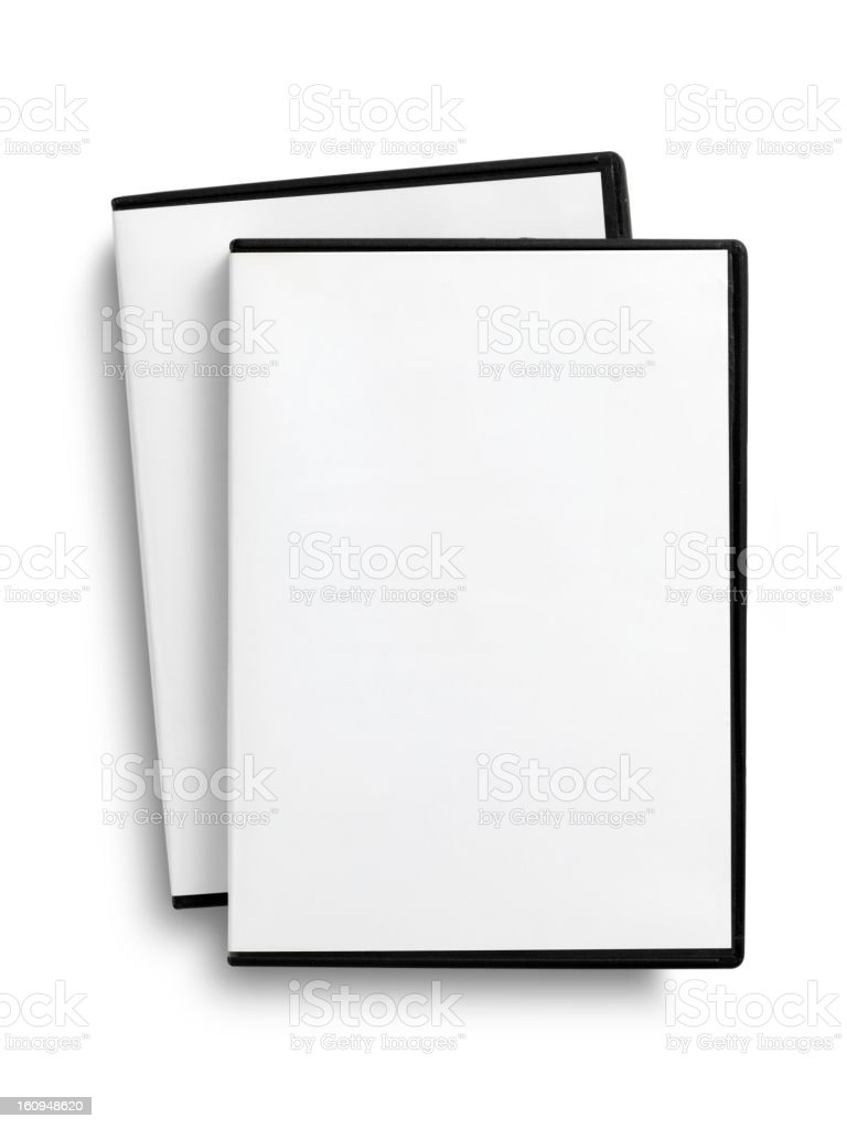 empty DVD case royalty-free stock photo