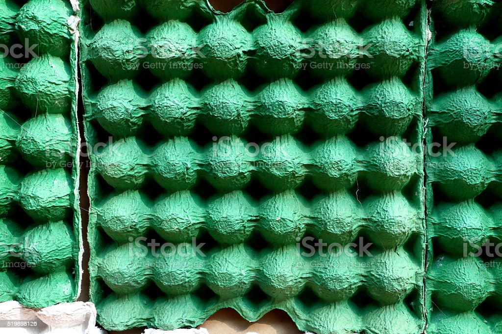empty egg carton use for cheap acoustic panel stock photo