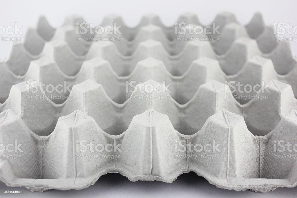 Empty egg tray stock photo