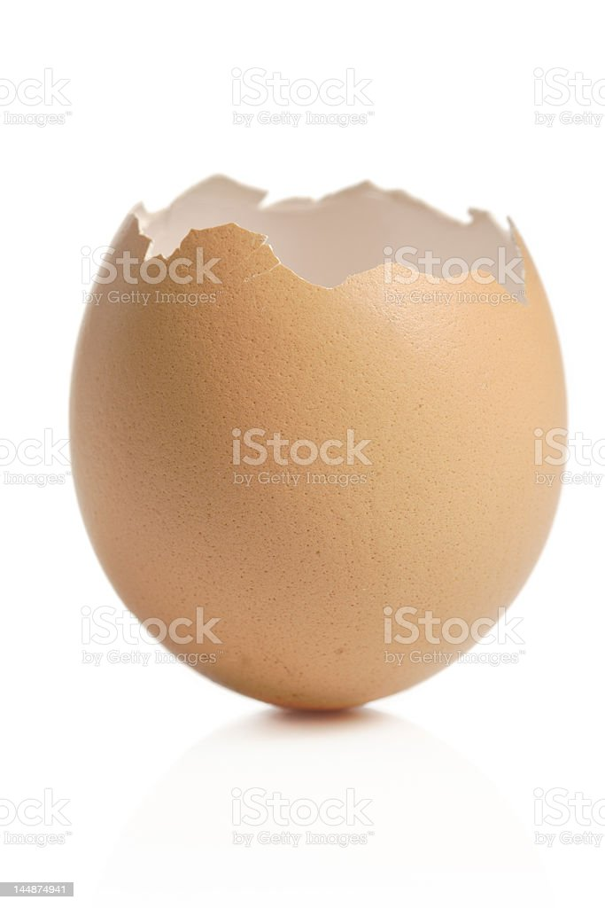 Empty eggshell royalty-free stock photo