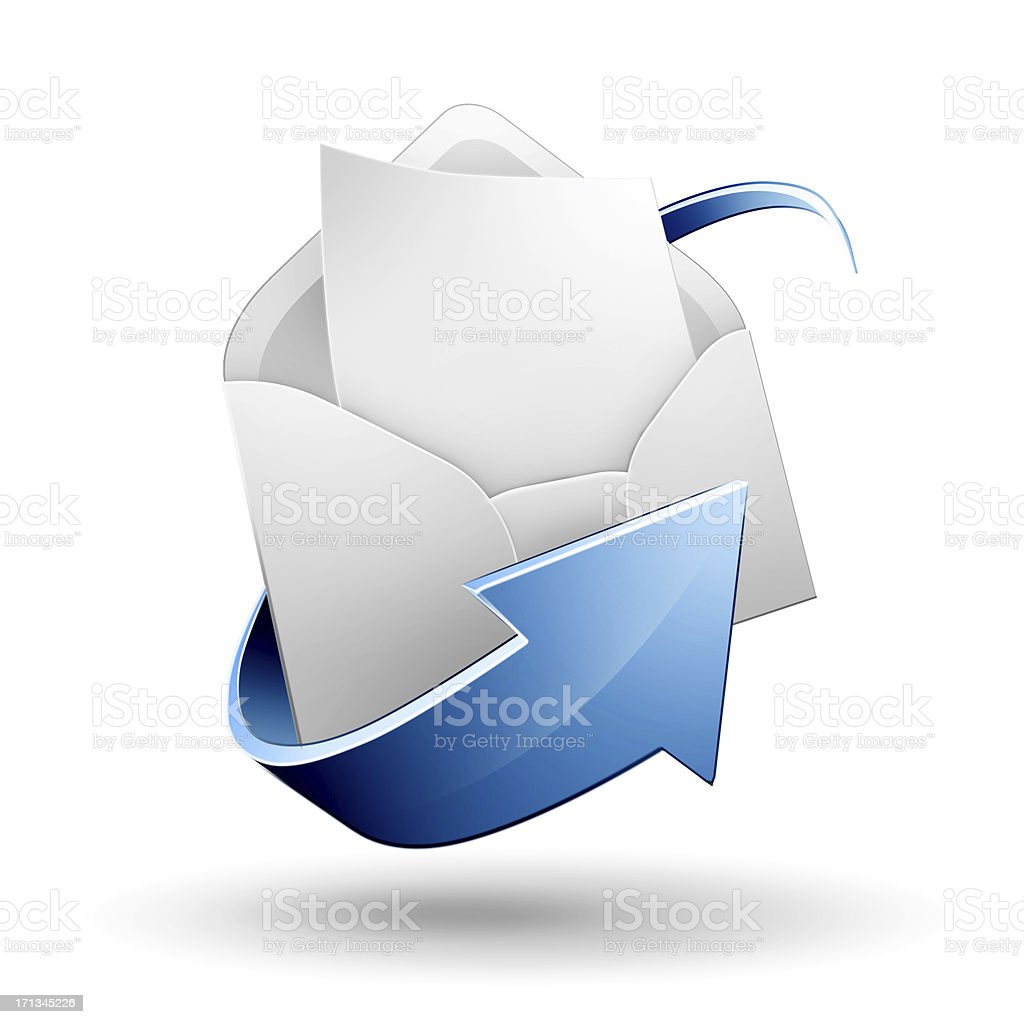 Empty email letter icon stock photo
