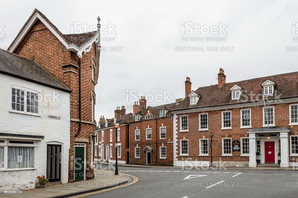 Empty English street stock photo