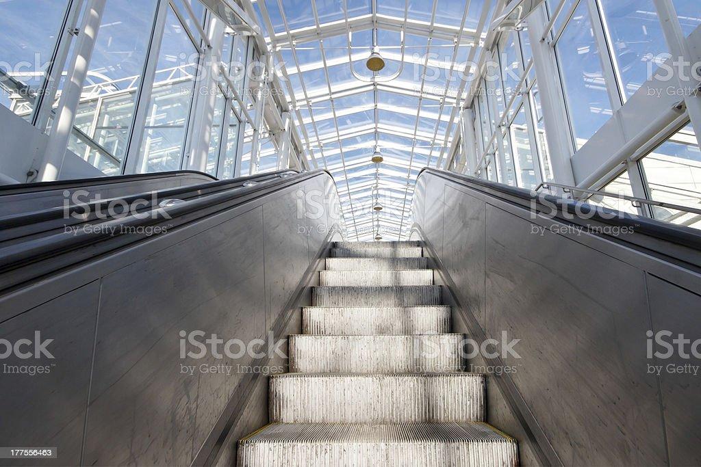 Empty escalator royalty-free stock photo