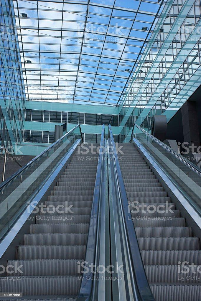 empty escalators royalty-free stock photo