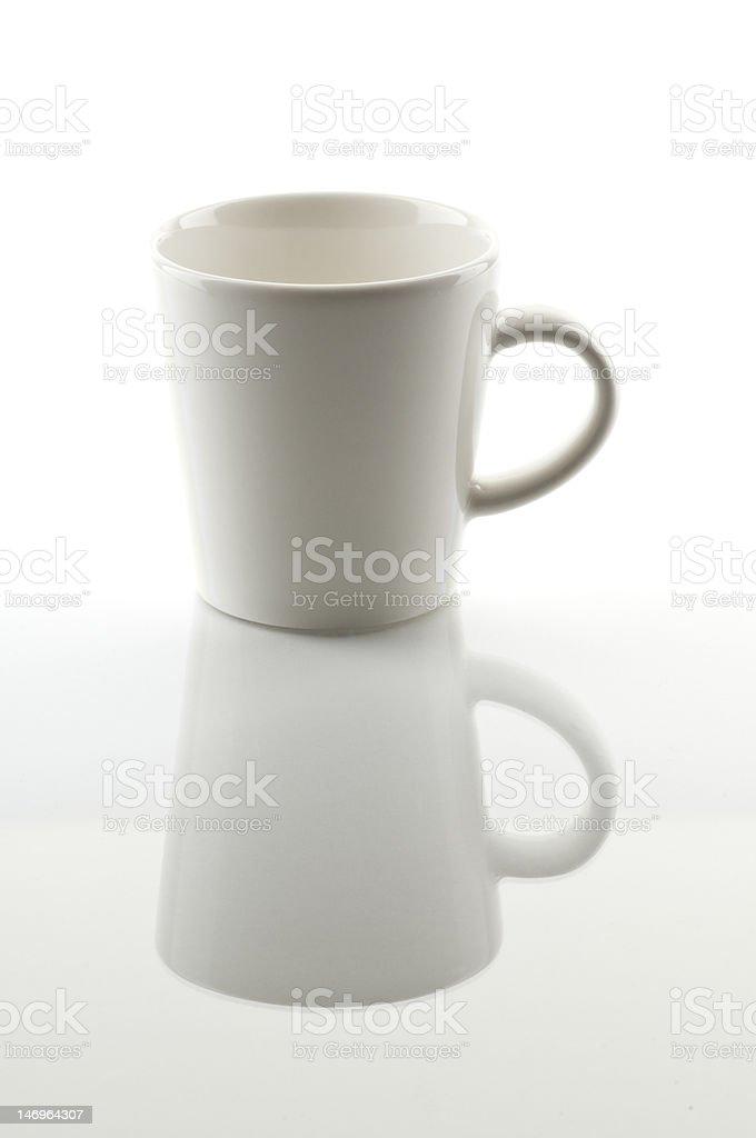 Empty espresso cup royalty-free stock photo