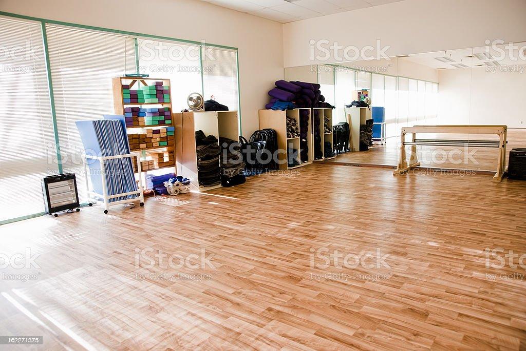 Empty excercise studio stock photo