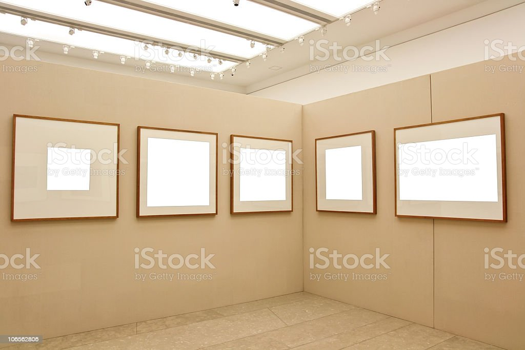 empty exhibition frames royalty-free stock photo