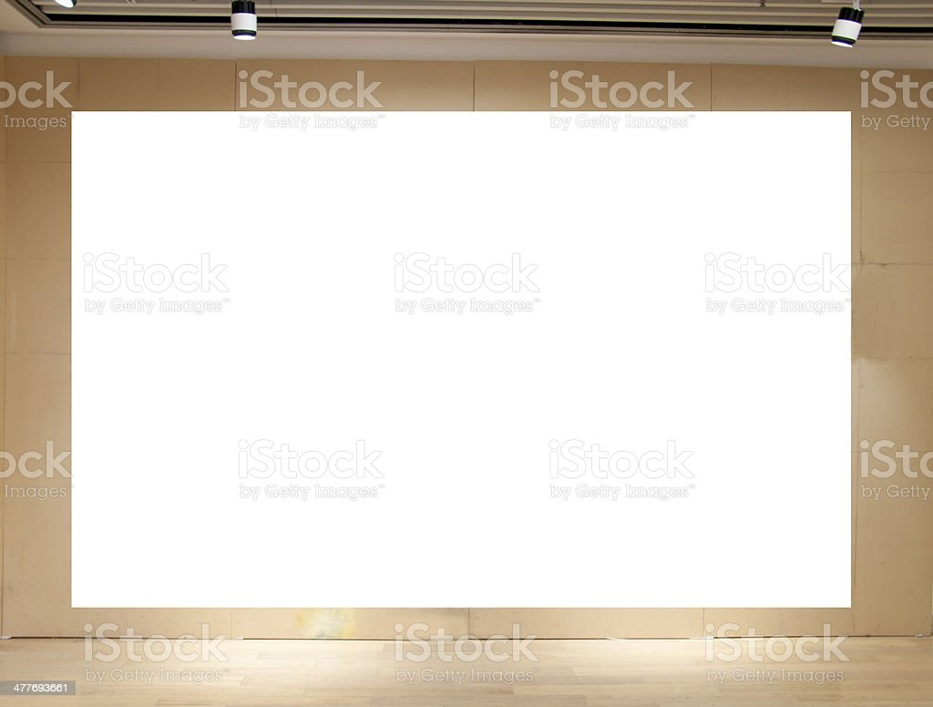 empty exhibition hall royalty-free stock photo