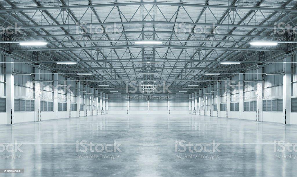 Empty factory stock photo