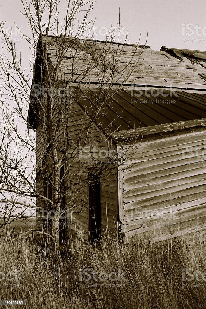 Empty Farm House, South Dakota stock photo