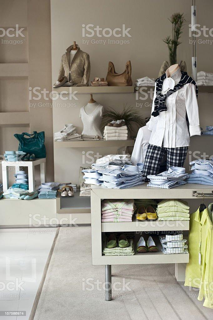 Empty female boutique stock photo