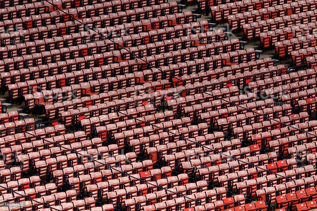 Empty Fenway Park Stadium Seats from Above royalty-free stock photo