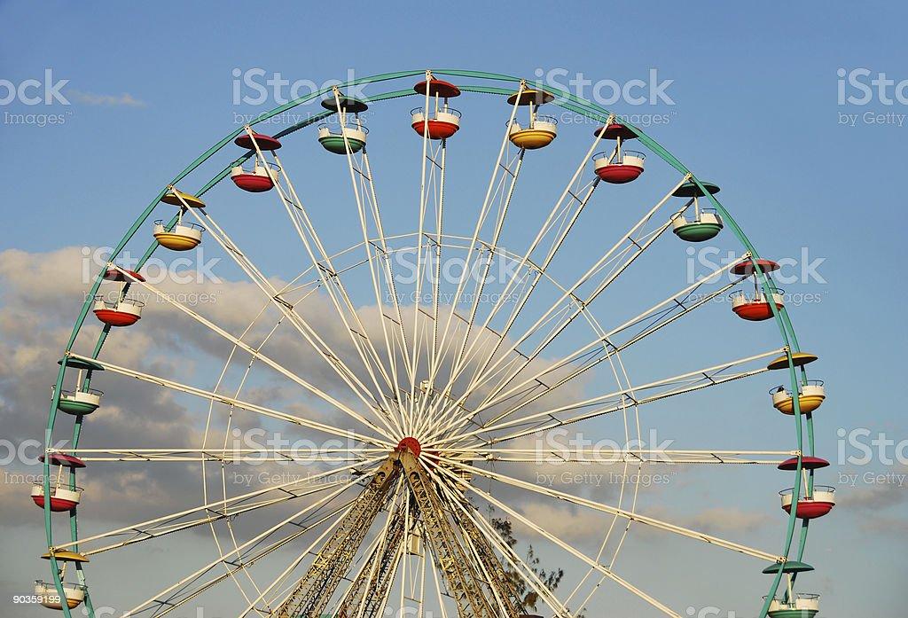 Empty Ferris wheel royalty-free stock photo