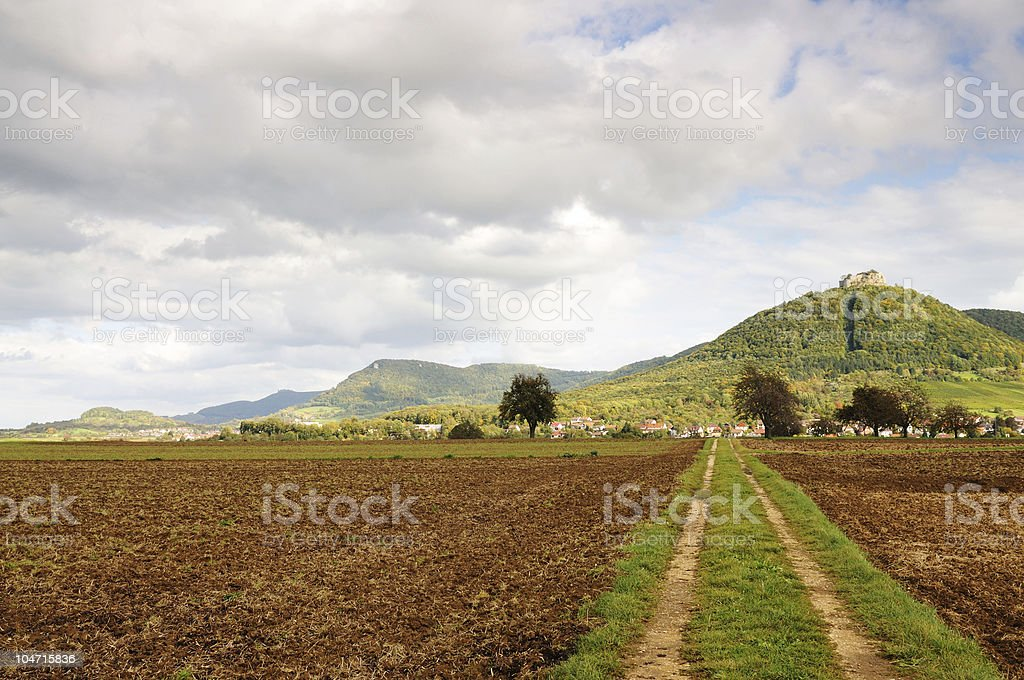 Empty Fields Agriculture in Germany stock photo