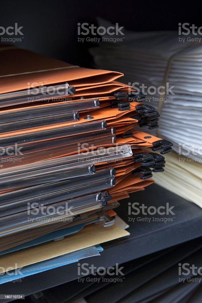 empty files and envelopes in cabinet royalty-free stock photo