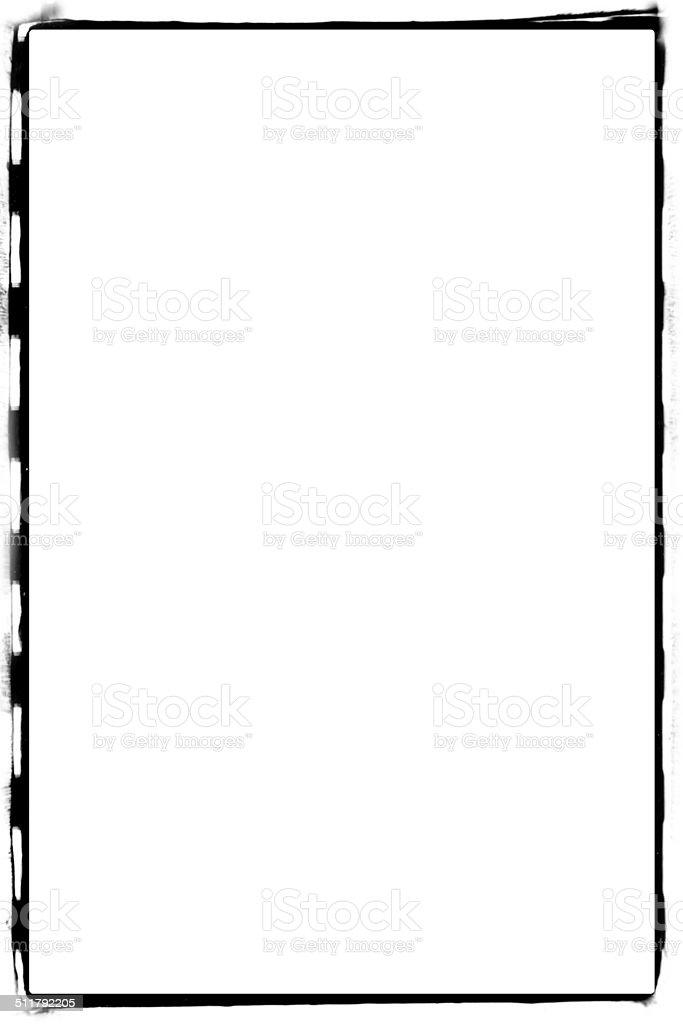 Empty film scan stock photo