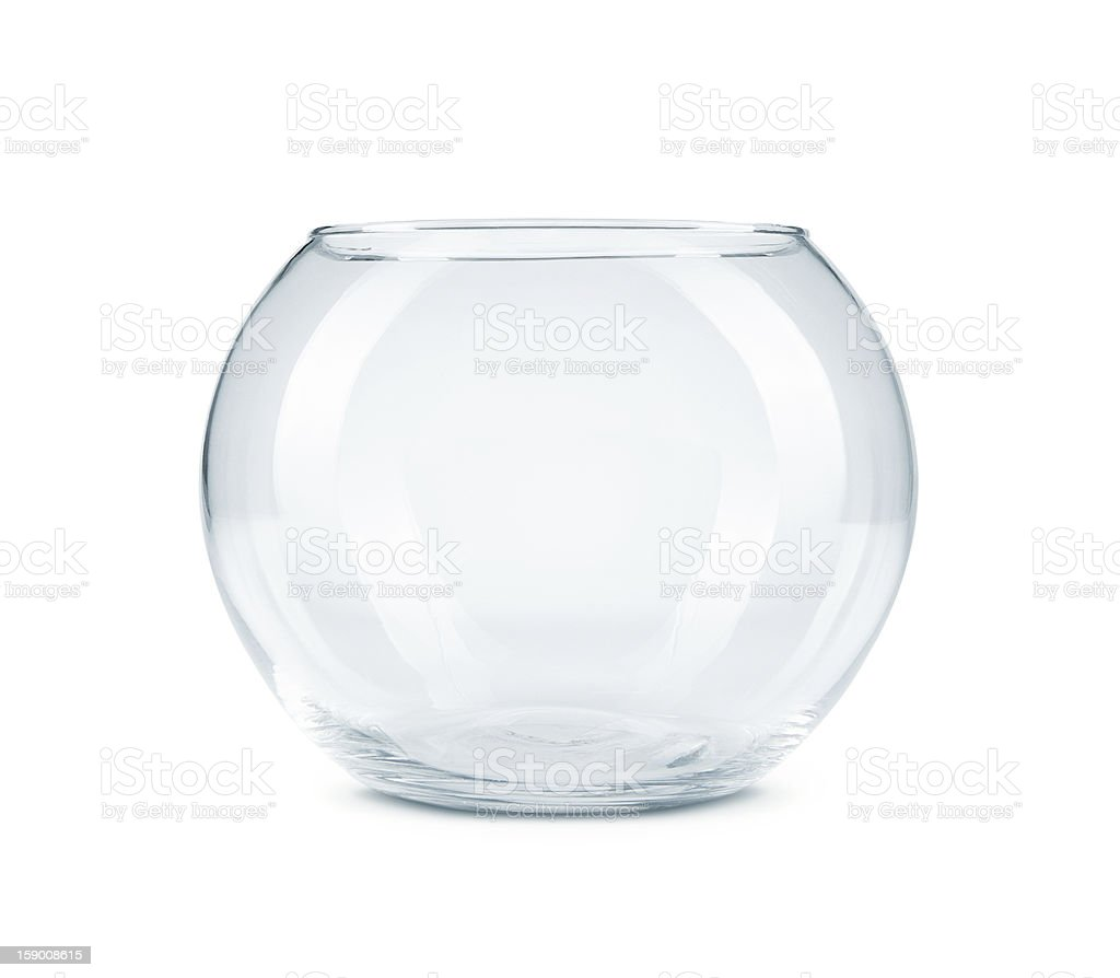 Empty fish bowl stock photo