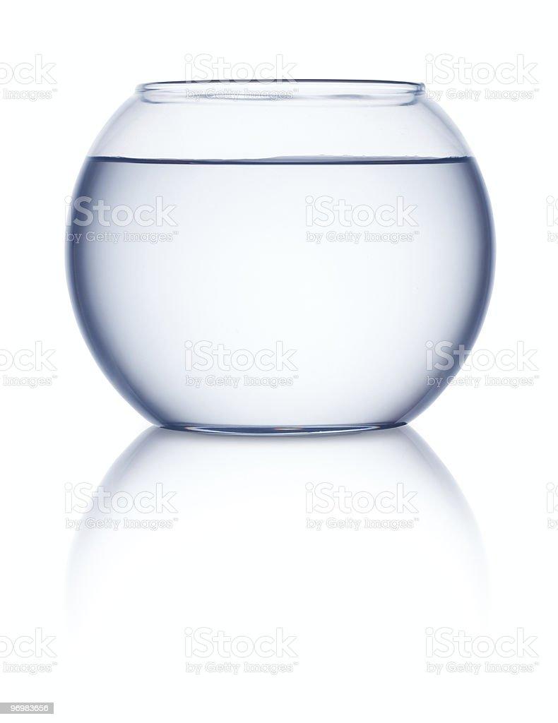 Empty fishbowl stock photo