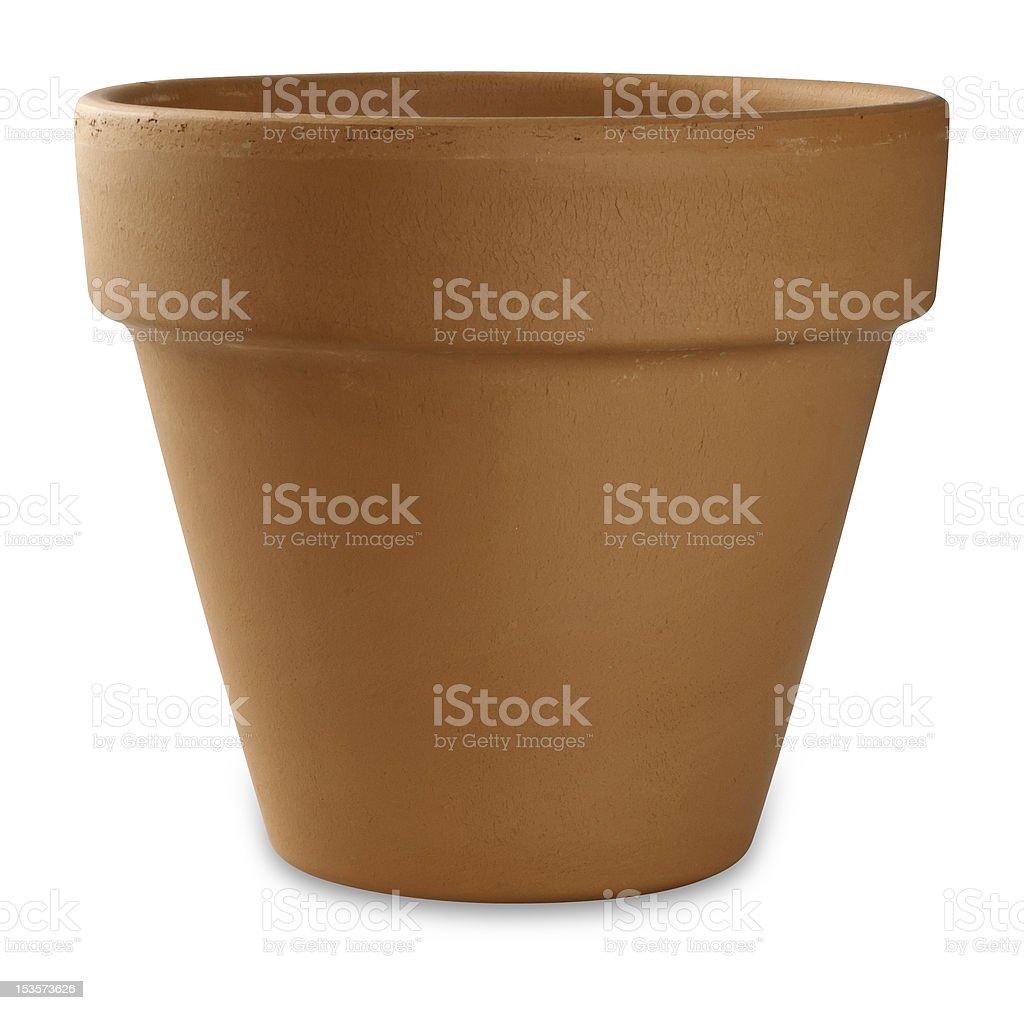 empty flower pot stock photo