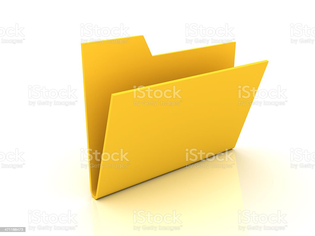 Empty folder royalty-free stock photo