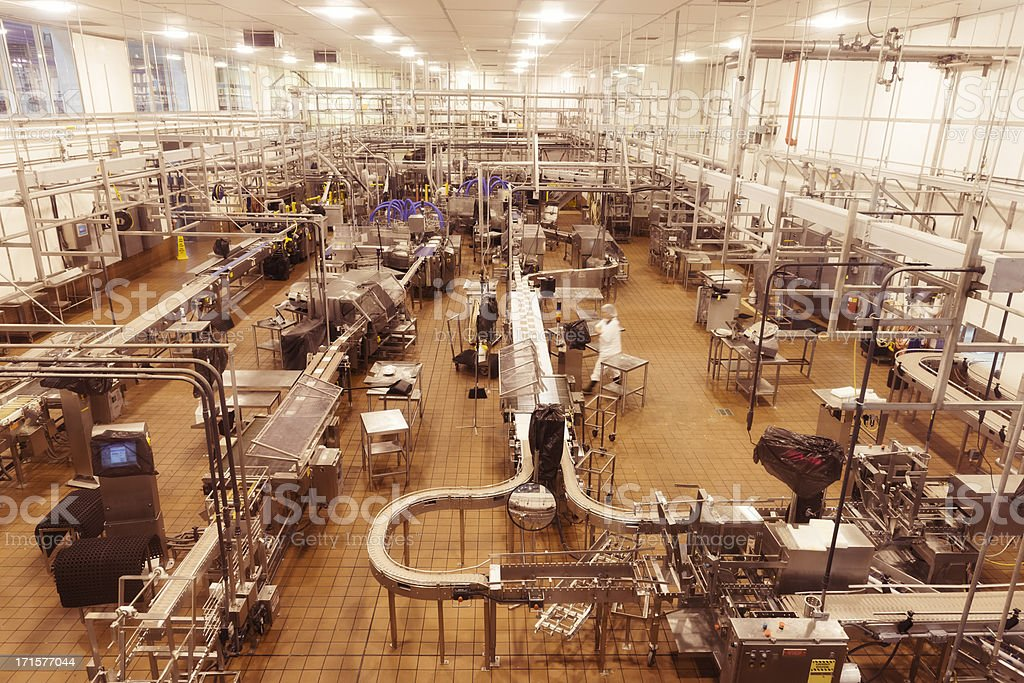 Empty food processing room stock photo