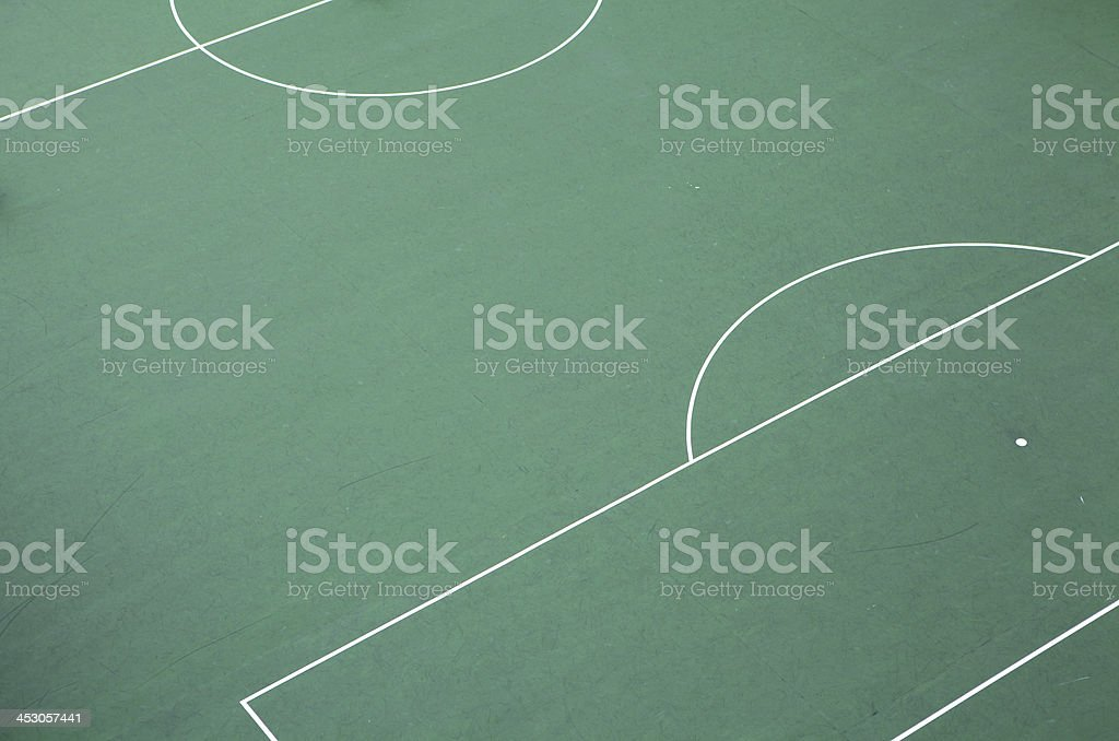 Empty football court top view royalty-free stock photo